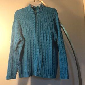 L.L.Bean Cable Knit Cardigan Sweater Size 2X